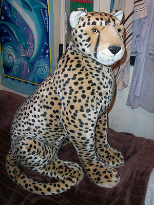 Large soft toy cheetah