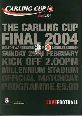CARLING LEAGUE CUP FINAL 2004: Middlesbrough v Bolton
