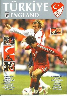 TURKEY v England (Euro Champs Qualifier, Istanbul) 2003