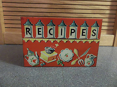 Vintage Stylecraft Recipe Box Red