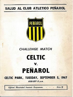 CELTIC v Penarol Uruguay (Friendly) 1967