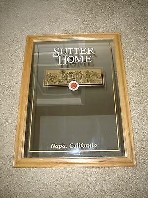 "Sutter Home Winery Since 1890 Napa California Oak Framed Mirror 18"" X 24"" Excell"