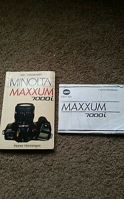 Minolta Maxxum 7000i 35mm camera instruction manual and book