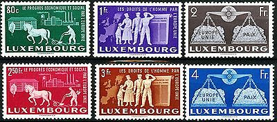 Luxembourg United Europe Complete Set 6 MNH Scott's 272 to 277 Mi 478 to 483