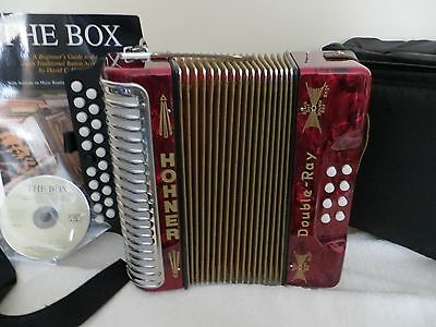 Honer Double Ray/ Black Dot Button Accordion