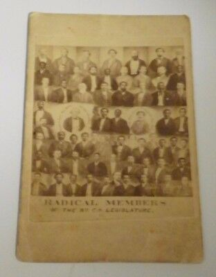 Radical Members of South Carolina Legislature 1868 ~ Civil War Photo