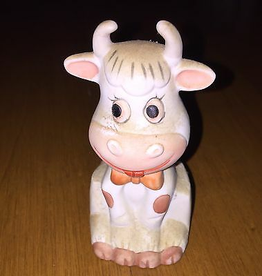 Vintage Cow Bell Ceramic Cow