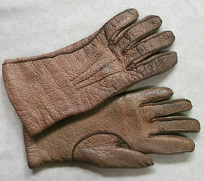Vintage Womens Real Pigskin Leather Milore Gloves 1950's 1960's Small 6.5