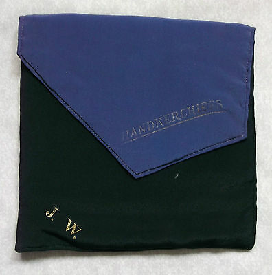 Wallet Vintage Leather TOP POCKET HANDKERCHIEF POUCH 1940s 1950s RETRO MOD