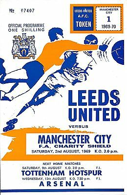 FA CHARITY SHIELD PROGRAMME 1969 Leeds v Manchester City