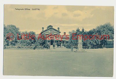 Old Postcard QUETTA Pakistan British India Telegraph Office 1900s AL352