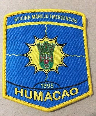Puerto Rico Police Patch...municipal Agency Emergency Management Humacao