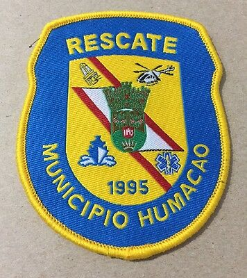 Puerto Rico Police Patch...municipal Agency Emergency Management (Rescue)Humacao