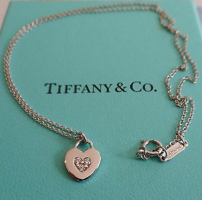 Tiffany & Co 18k White Gold and Diamond Necklace