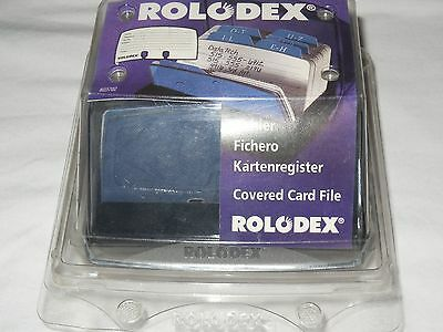 Rolodex 15353 Covered Petite Card File with Cards and 125 Index Tabs 2-1/4x4