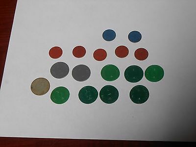 17 vintage State of Utah Sales Tax Tokens & WW 2 Opa Points free shipping