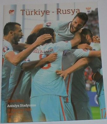 TURKEY - RUSSIA 2016 official programme friendly game