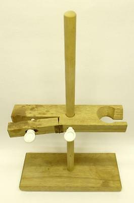 Old School Wooden Laboratory Stand Burette Funnel Holder