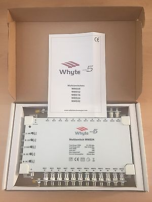 🔹NEW🔹 WHYTE Technologies 24-Way Professional Satellite Multiswitch 🔹WM524🔹
