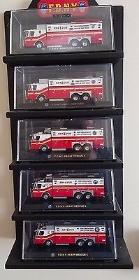 code 3 collectibles - FDNY Saulsbury Heavy Rescue Collection 5 models