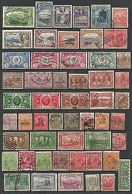 British colonial & GB early KGV collection of all different postally used issues