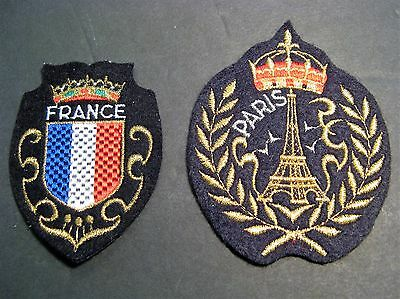 Travel Patches  2 France Europe Paris Sewing