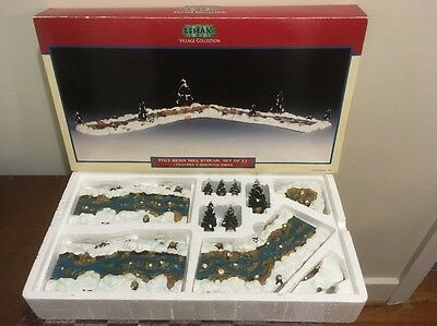 Lemax Poly-Resin Mill Stream, Complete Set Of 11 Pieces