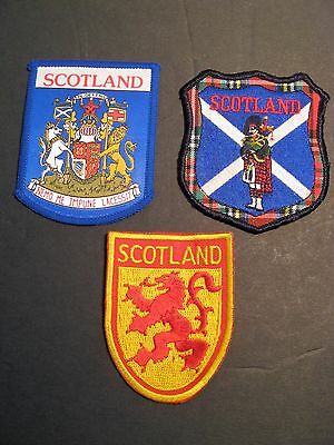 Travel Patches 3 Scotland Uk Piper Flag Coat Of Arms Europe Sewing