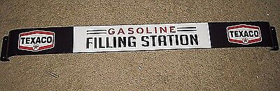 Vintage Style Official  Texaco Gasoline Filling Station Door Push Metal Embossed