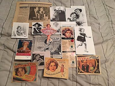 Assorted Lot of Clippings - SHIRLEY TEMPLE