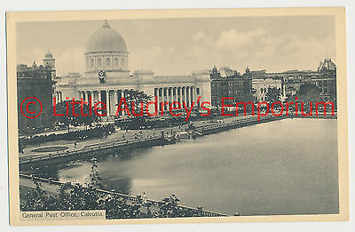 Old Postcard British India Kolkata Calcutta General Post Office 1900s AL375