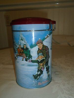 Tim Horton's Collectible 3rd Ltd Edition Coffee Tin Canister 2003 Skating Pond