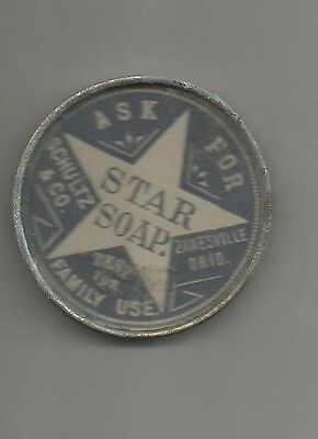 early 1900's advertising pocket mirror ask for STAR SOAP