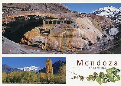 Argentina, Mendoza, Split View of Inca Ruin and Landscape, Unused Postcard,c1980