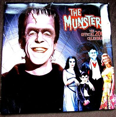 The Munsters Official 2006 Calendar With Episode Guide Vfn Condition