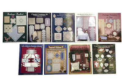 Lot of 9 Hardanger Embroidery Books Nordic Needle Compiled by Meier and Watnemo
