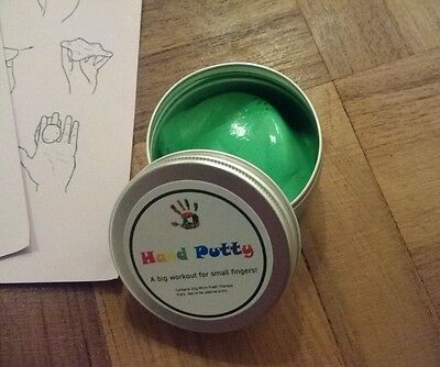 Kids Hand/Finger Strengthening Therapy Putty with Exercises