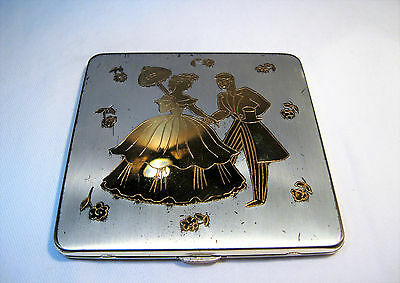 Vintage Newport Signed Makeup Powder Compact - Never Used  K191