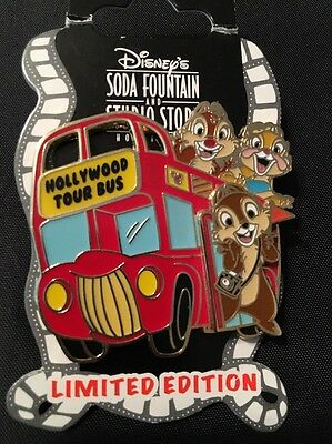 Chip And Dale DSF Hollywood Tour Bus Clarice  LE 300 Disney Soda Fountain Pin
