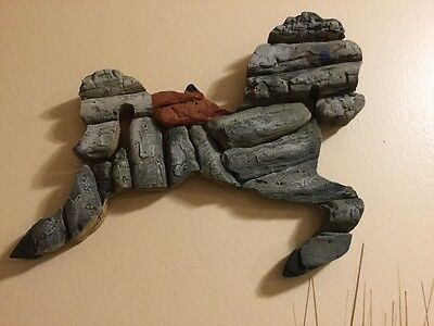 Abstract Drift Wood Horse Wall Hanging Home Barn Cottage Novelty Decor