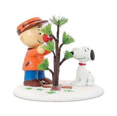 Dept 56 Peanuts Christmas Village Perfect Tree Charlie Brown Snoopy MIB