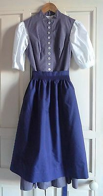 WENGER Autriche tenue costume country traditionnel robe blouse tablier T. 34 36