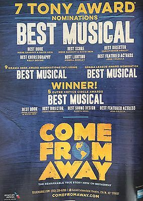 PRINT Promo Ad Come From Away Broadway Musical 2017-Tony Award WINNER