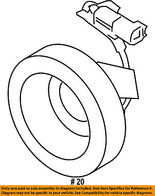 Ford Oem Compressor Clutch Coil F5vy19d798a