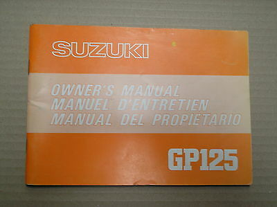 Suzuki GP 125 GP125 N genuine owners 99011-39120-01D manual good lightly USED