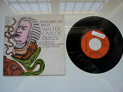 "Walter Carlos ""switched On Bach"" Rare Spanish Promotional Gatefold 7"" Vinyl"
