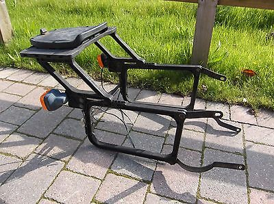 Honda CB450dx CB450N CB 400 250 N Krauser rear rack with Givi top plate VGC