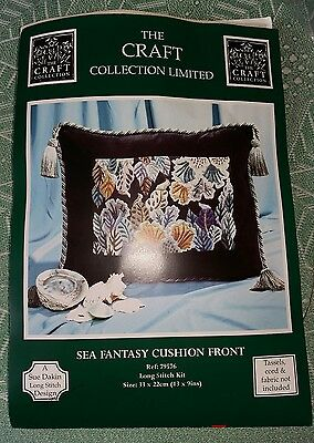 "Craft Collection Long Stitch Kit, Sea Fantasy, Cushion Front 13"" By 9"" 79576"