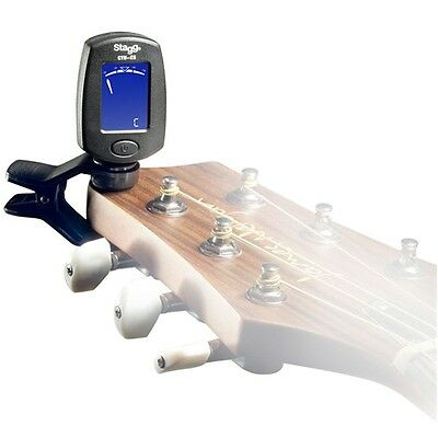 Stagg CTU-C5 BK Clip On Chromatic Tuner