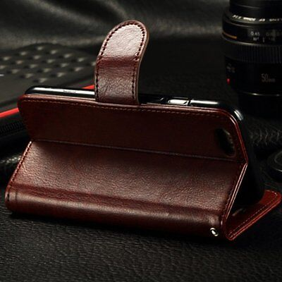 Leather Wallet Magnetic Card Slot Flip Stand Cover Case For iPhone 6 6S Brown